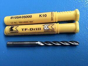Kennametal 1 X Forets de Carbure 5 MM K10