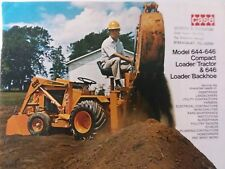 Case 644 Amp 646 Tlb Loader Backhoe Compact Garden Tractor Color Sales Brochure