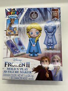 Cra-Z-Art ~ Disney Frozen II Elsa Softee Dough Mold N' Play 3D Figure Maker