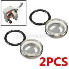 2 Pack 18mm Motorcycle Bike Brake Master Cylinder Reservoir Sight Glass Len USA