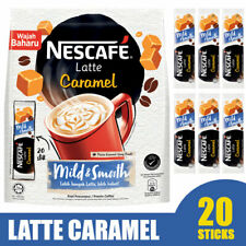 Nescafe 3 in 1 Latte Caramel (Coffee Latte) - Instant Coffee Packets 20 sticks
