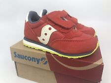 Saucony Baby Jazz Hook & Loop Sneaker Red Blue Lime Size 7M NEW