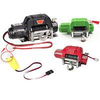 RC Auto Metall Winch Seilwinde Remote Controller Für 1/10 RC TRX-4 SCX10 D90 Car