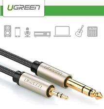 """UG 3.5mm Male to 6.35mm 1/4"""" TRS Stereo Audio Headphone Adapter Cable 0.5M -US W"""