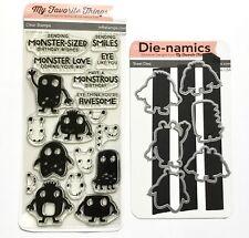 New listing Nip My Favorite Things Stamps & Die-namics Die Monster Love Birthday