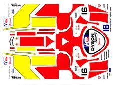 #16 Dyson Racing 1985 Porsche 962-956 Imsa 1/43rd Scale Slot Car Decals
