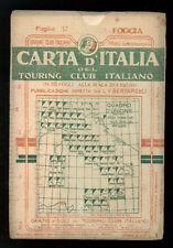 FOGGIA FOGLIO 37 CARTA D'ITALIA DEL TOURING CLUB ITALIANO 1910 PUGLIA