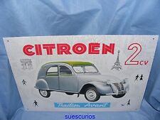 Metal Advertising Car Garage Sign Citroen 2CV Avant