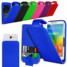 For ZTE Blade L3 - Clamp Style PU Leather Flip Case Cover
