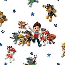 OFFICIAL PAW PATROL WALLPAPER KIDS BEDROOM FEATURE WALL