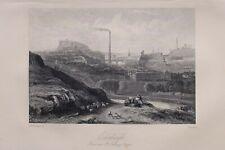 1868 SCOTTISH SCOTLAND PRINT ~ EDINBURGH FROM STANTHONYS CHAPEL