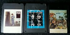 Lot of 3 Eight (8) Tracks Village People Billy Joel Kiss Music Tape Cartridges