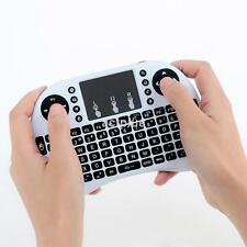 2.4G Wireless Mini Keyboard Handheld Touchpad Keyboard Mouse for PC White UK