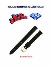 Speidel 12mm Black Calf Skin Lds Watch Band 258430-CHEAP