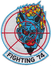 Fighter Squadron 74 VF-74 United States Navy USN Shaped Embroidered Patch
