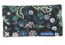 NEW Kavu Big Spender Wallet WHIMSICAL MEADOW canvas NWT