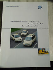 VW Passat & Sharan Taxi brochure Mar 2001 German text