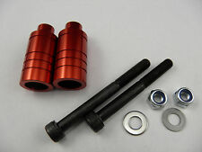 2 x RED SCOOTER ALLOY GRIND PEGS *NEW* WILL FIT MOST SCOOTERS