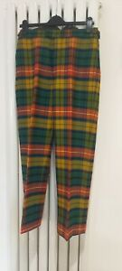 Buchanan Tartan Men's Wool Trews With FishTail.New Without tags. Waist 32 x 30
