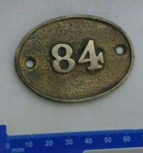 Brass Number 84 Door Number