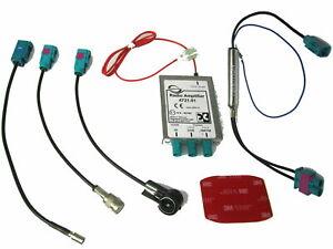 Antennen Splitter DAB+ Dietz Doppel Fakra ISO Phantomspeisung passend für VW