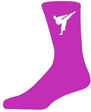 High Quality Hot Pink Socks With a Martial Arts Figure, Lovely Birthday Gift