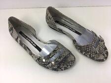 "Libby Edelman ""Steffi"" Ladies Peep Toe Animal Print Flats - Size 7 M"