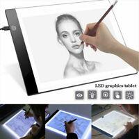 DEL A4 Copie Pad Tracing Light Box Board artiste Tattoo Table à Dessin Pochoir