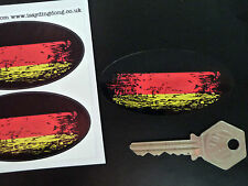 GERMAN Tricolour Flag Fade to Black Oval Car Motorcycle Stickers 75mm Germany