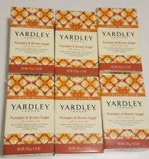 Yardley London Pumpkin & brown sugar Soap Lot of  6 Bars limited edition