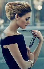 Beautiful MARTIN GRANT Black Jacquard Off The Shoulder Cocktail Dress Sz M LBD