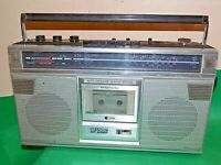 SHARP STEREO RADIO Portable CASSETTE BOOMBOX Vintage GF-6060 Made Japan Faulty