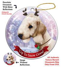 Bedlington Terrier Sandy Reindeer Dog Porcelain Christmas Ornament