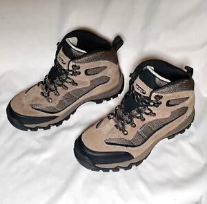 Hi-Tec Men's Skamania Brown/Gold Mid-Top Leather Waterproof Hiking Boots Sz 8.5