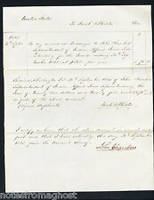 1845 INDIAN TERRITORY AFFAIRS LETTER SAC FOX TRIBE NATIVE AMERICAN ~J. CHAMBERS
