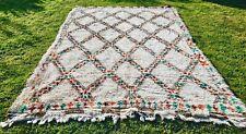 Large VINTAGE Moroccan Wool Rug BOHO Berber Azilal Beni Ourain CARPET 325x200cm