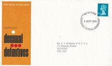 (26408) GB FDC 6.5p definitive Bureau 1974