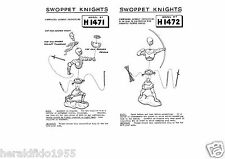 Britains Herald Swoppet Knights Homeworker Instructions ~ Copies for H1471-1475