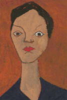 Ben Carrivick - Signed Contemporary Oil, Brown Portrait Study