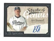 2007 UD Masterpieces Stroke of Genius Kevin Kouzmanoff AUTOGRAPH Padres
