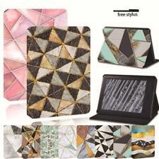 Para Amazon Kindle 8th 10th Paperwhite 1/2/3/4 - Estuche con Funda y base de cuero geométrica