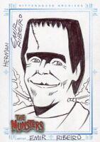 The Munsters 2005 Autograph Sketch Sketchafex Card Herman Munster Emir Ribeiro