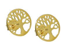 375 ECHT GOLD *** Ohrringe Ohrstecker Lebensbaum 10 mm