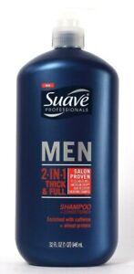 1 Bottle Suave Professionals 32 Oz Men 2in1 Thick & Full Shampoo & Conditioner