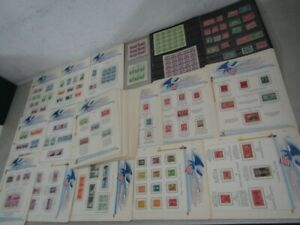 Nystamps S Mint US stamp collection many stuck down Album page