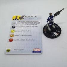 Heroclix Captain America set Nick Fury LMD #100 Limited Edition figure w/card!