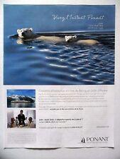 PUBLICITE-ADVERTISING :  PONANT Mer de Béring Golfe d'Alaska  2016 Voyages,Yacht
