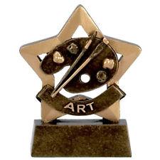 ART TROPHY ENGRAVED FREE ART DRAWING SKETCH PAINTING MINI STAR AWARD TROPHIES
