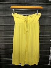 Victoria secret Bright Yellow Halter/tube Top summer Dress Size XSmall