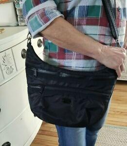 Lug HIPPY Crossbody Travel RFID Shoulder Bag Convertible BLACK